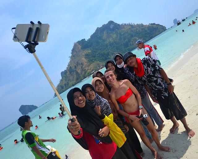 Un selfie en la playa de Tub Island