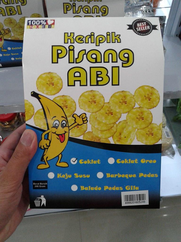 kripik pisang abi