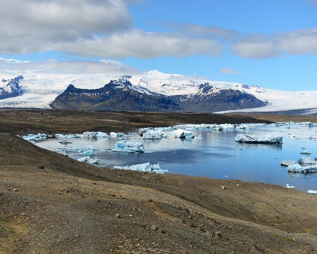 La espectacular laguna de Jökulsárlón vistas desde arriba