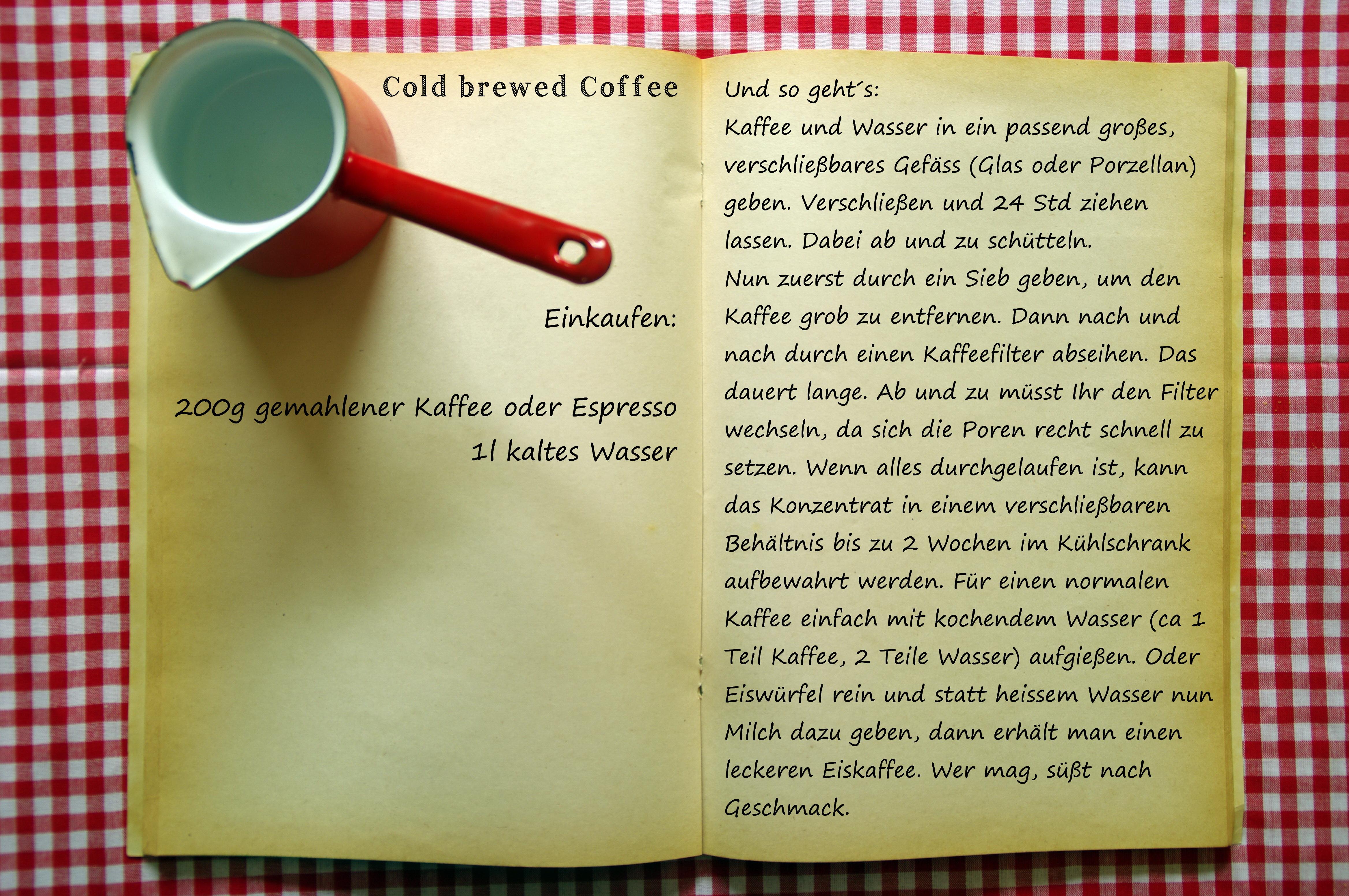 Einkaufszettel Coldbrewed Coffee by Glasgeflüster
