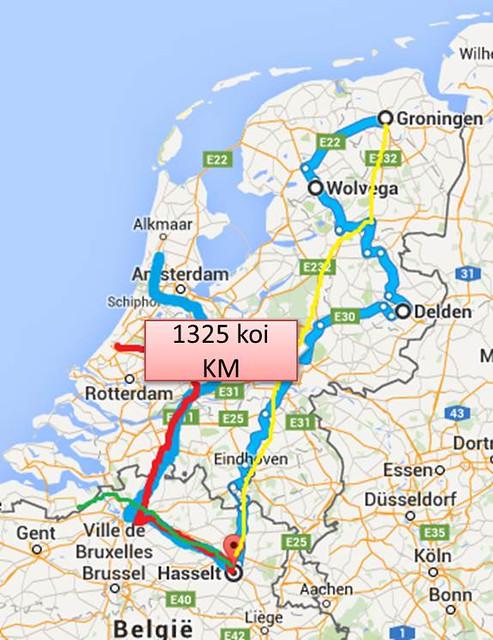 route naar Hasselt