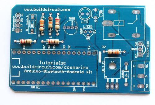 Step 2- SOlder 330 Ohm and 10K Ohm resistors