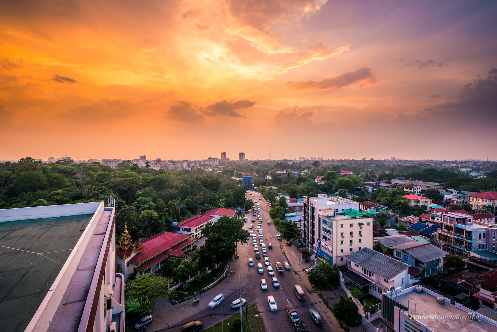 Yangon City at Sunset