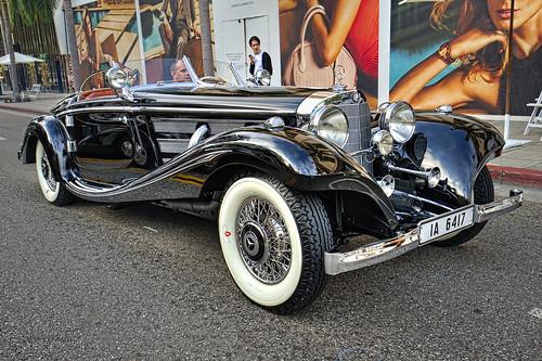 B F Ef B on 1936 Mercedes Benz 540k