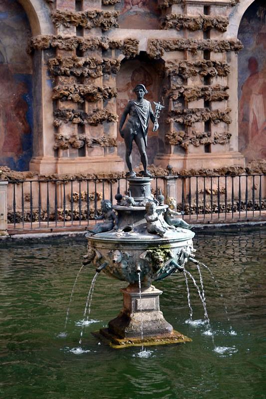 Fuente de mercurio. Alcázar de Sevilla.