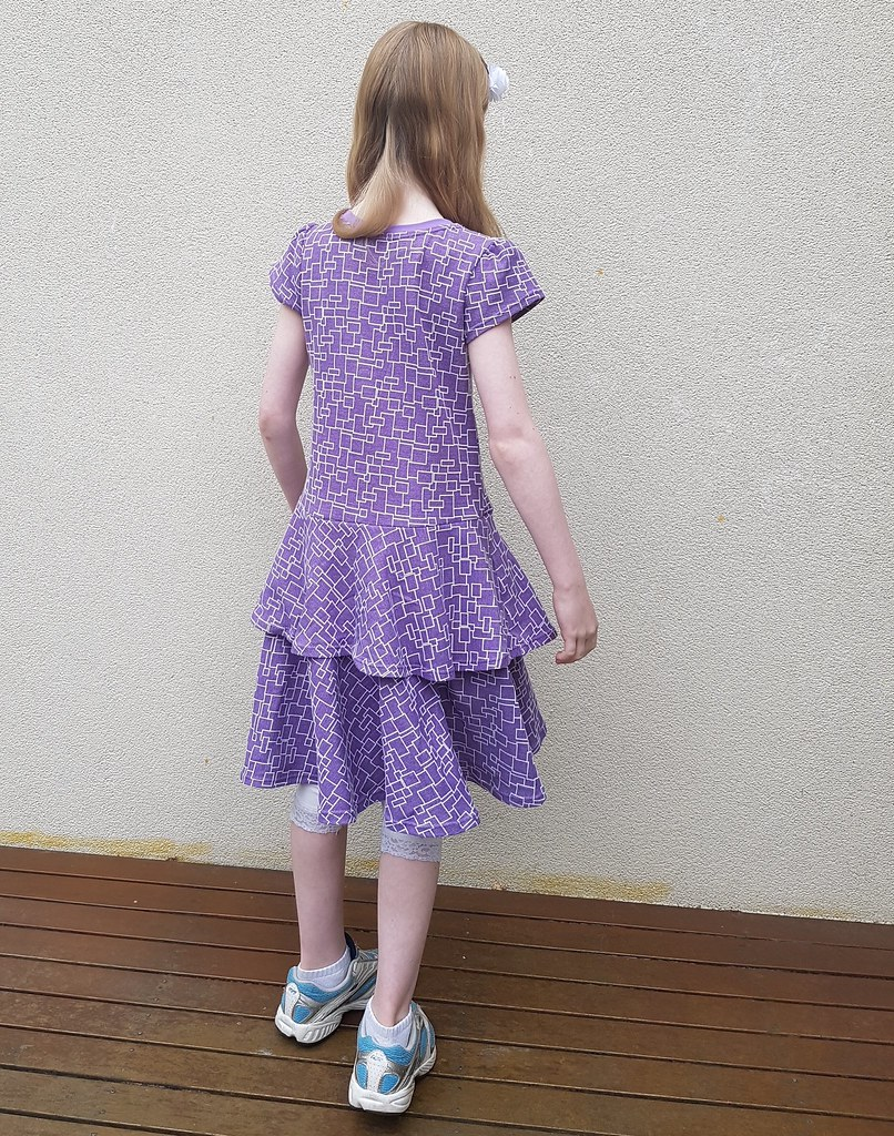 Simplicity 1435 in knit jacquard from Rathdowne Fabrics