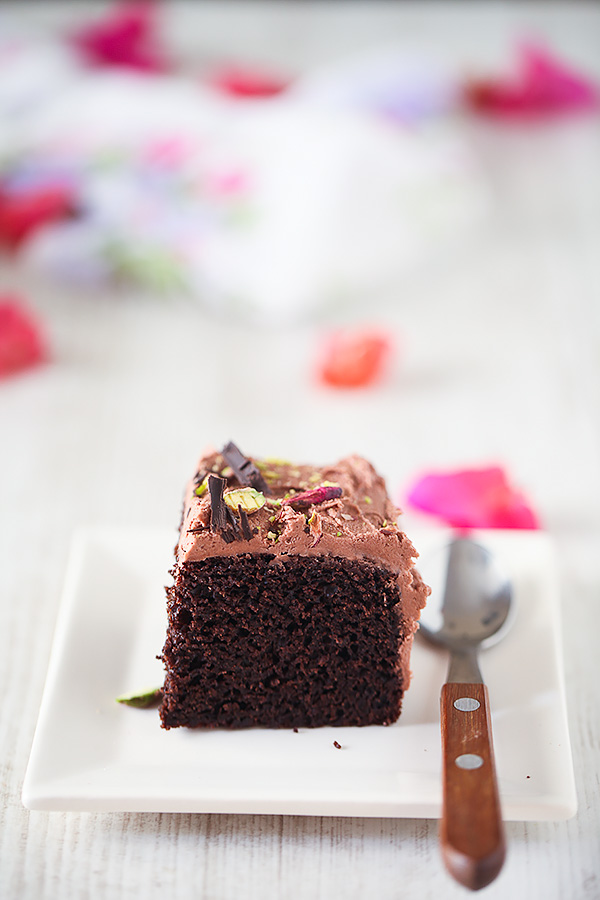 Eggless After Eight Chocolate Cake