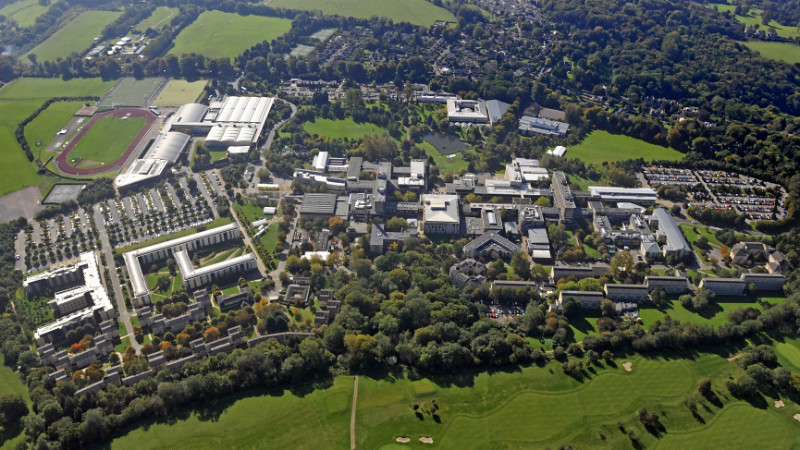 Aerial view of the University of Bath campus