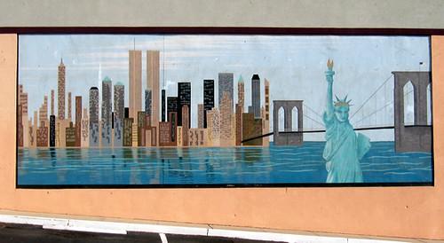nyc skyline mural old bridge new jersey sheena chi flickr