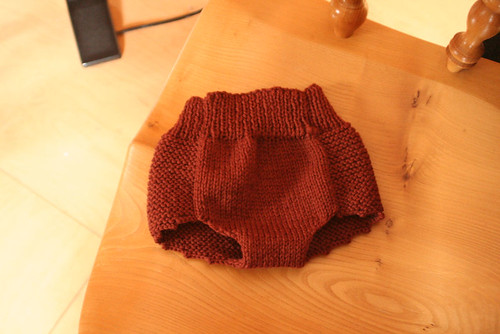 Brown Diaper Cover (leg holes unfinished) | by ElinorB