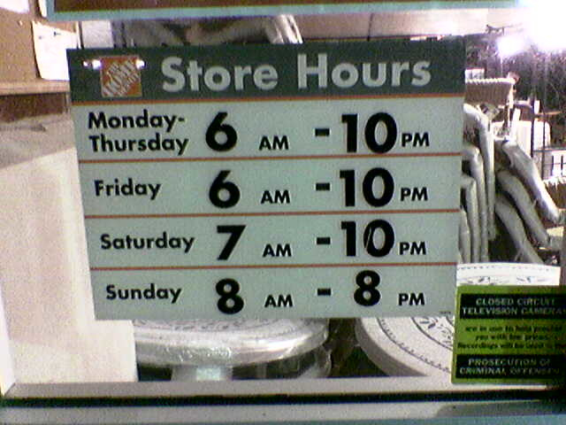 Home Depot Hours Nd St Omaha