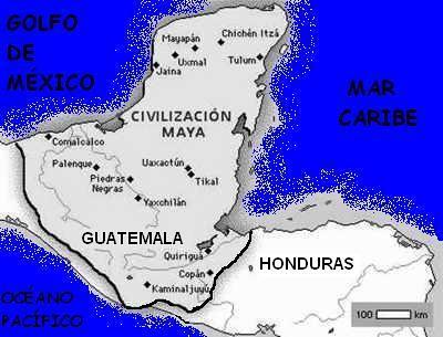 Mapa territorio maya geograf a hist rica maya karen e for Cultura maya ubicacion