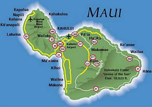 Maui, Hawaii Map | Click on the Image notes to view images f… | Flickr