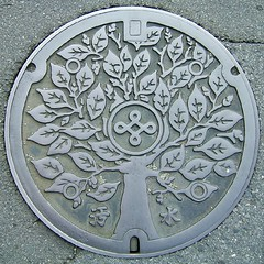 Manhole cover - Nishio [squared circle] | by Mr Wabu