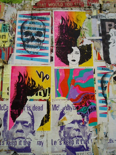 Wall of Flyers on Valencia Street
