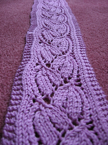 Dayflower Lace Knitting Pattern : Dayflower Lace Scarf Knit with King Tut mercerized ...