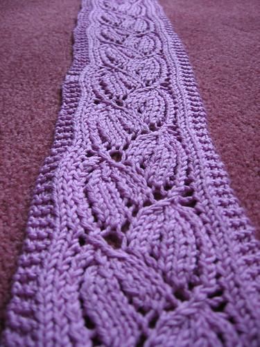 Dayflower Lace Scarf Knit with King Tut mercerized ...