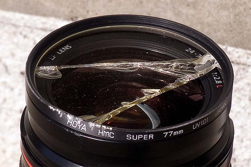 Broken UV filter | by pointnshoot