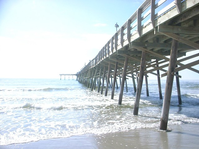 Atlantic beach nc fishing pier washed out and scanned for Fishing report atlantic beach nc