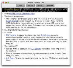 Using an outliner to blog | by scriptingnews