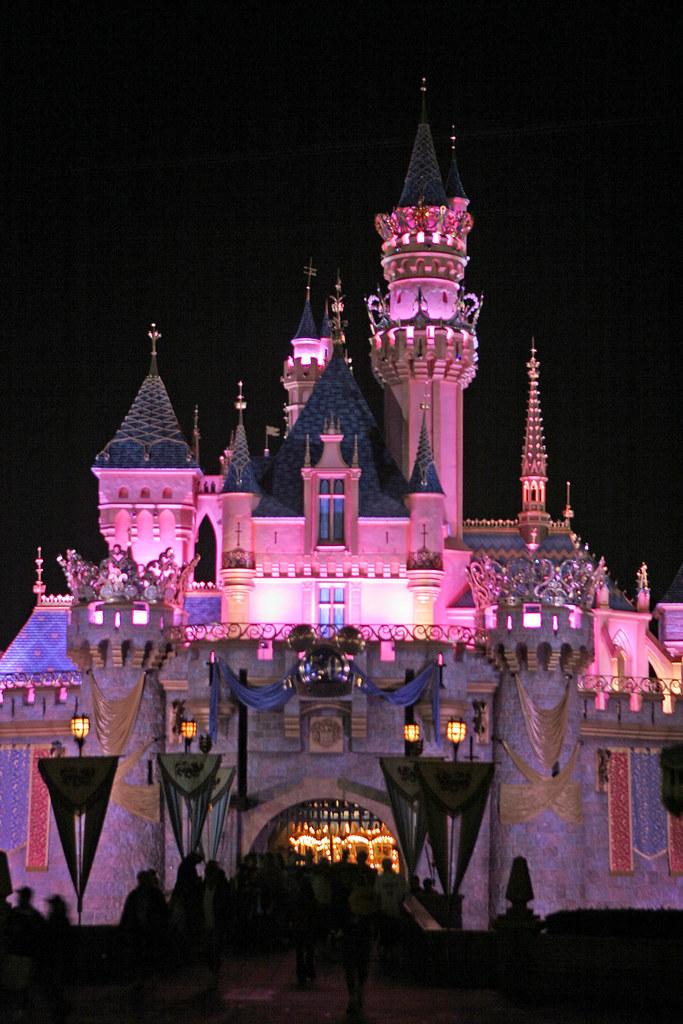 Sleeping Beauty Castle At Night Sleeping Beauty Castle