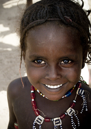 Young Afar girl smiling, Ethiopia | by Eric Lafforgue