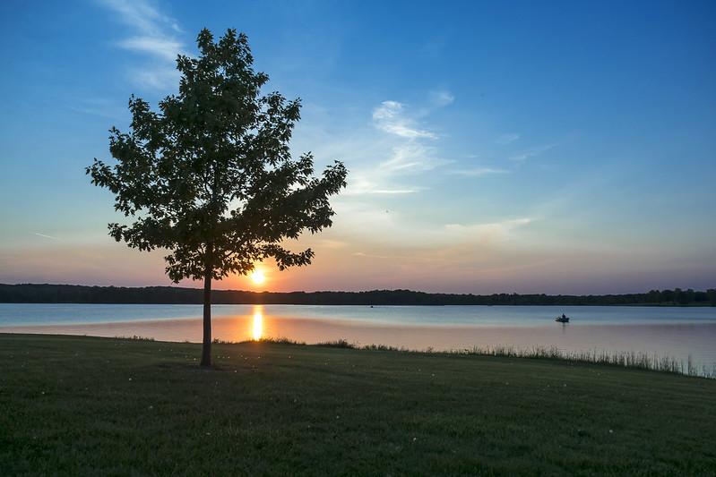 Sunset at Stony Creek Lake