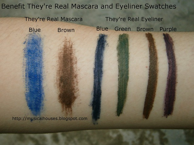 Benefit Theyre Real Mascara Eyeliner Swatches New Shades