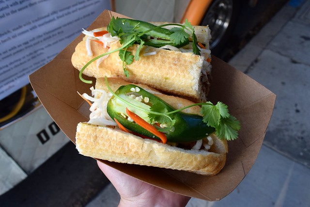 Dot Saigon's Caramalised Pork Belly Banh Mi Sandwich at First Friday's, Abbot Kinney Boulevard