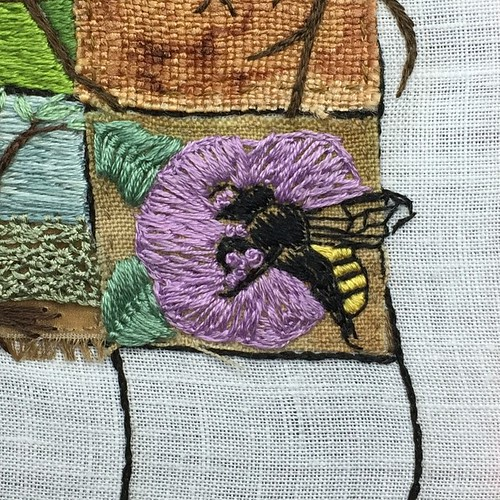 Jun 20/15 #embroidery #embroideryart #broderie #honeybee #toronto #ontario | by obliquepoet