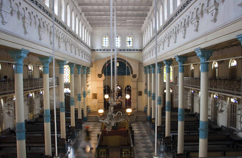 Balcony inside Beth-El Synagogue - Kolkata, India