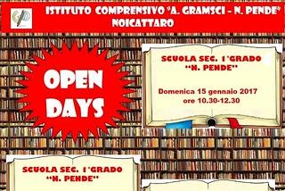 Noicattaro. Open Day Gramsci-Pende front