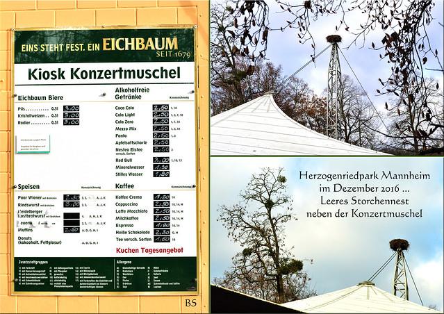 27. Dezember 2016 ... Gartenreisen ... Winterlicher Herzogenriedpark Mannheim ... Pflanzen, Tiere, Parklandschaft, Kunst ... Fotos und Collagen: Brigitte Stolle,  Mannheim
