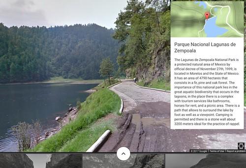 Lagunas de Zempoala National Park on #StreetView