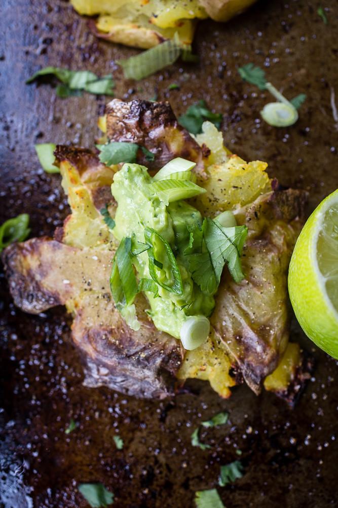 Guacamole Crashed Potatoes
