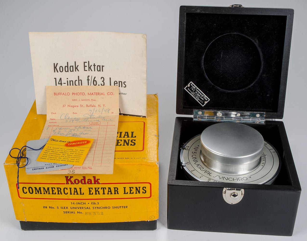 Kodak Commercial Ektar ILEX 14 inch Lens f6.3 Universal Synchro Shutter in Original Boxes 1