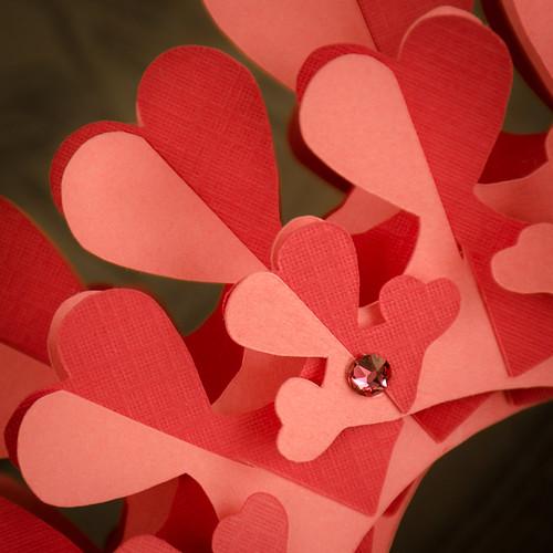 Coral Heart Paper Torus - Detail