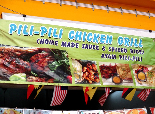 Pili pili grilled chicken stall