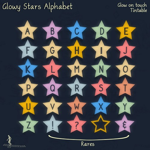 Glowy Stars Alphabet Gacha Key