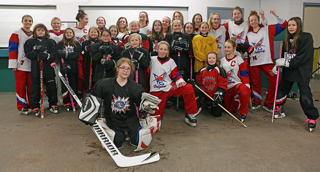 Jan 23, 2017 - U14AA Red and NW U10S3 Trouble - Out for a game cheer and a mentor practice!