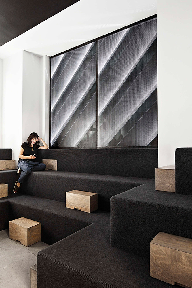 Office space design of the former firehouse in New York Sundeno_02