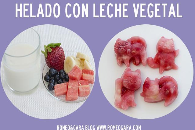 Helados para perros con leche vegetal