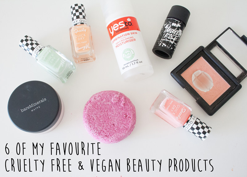 6 of my favourite cruelty free and vegan beauty products