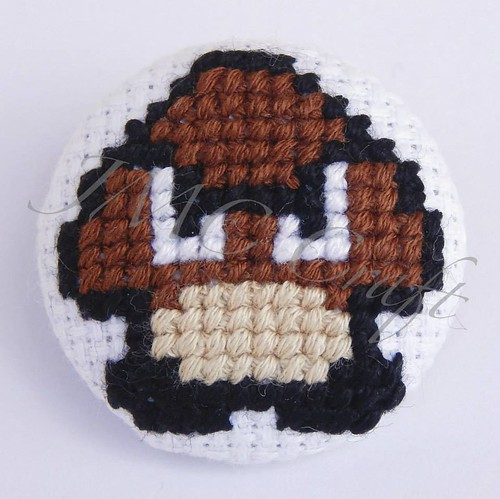 Geeky gaming cross-stitch by JMC Craft - Mario Goomba