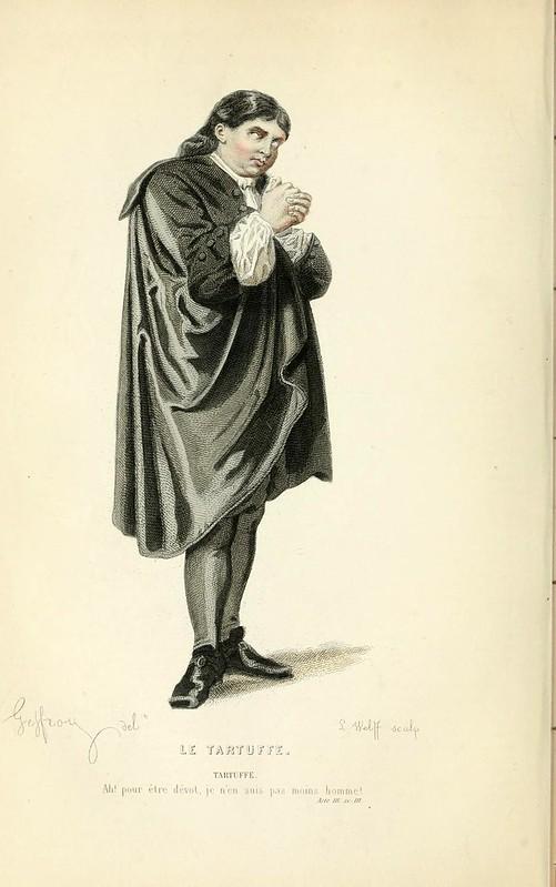010- El hipocrita -Oeuvres completes ornee de portraits en pied colories…1871- Moliere
