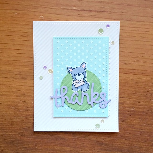 Doggy Thanks Card from Stamping Smiles Designs | shirley shirley bo birley Blog  | cardmaking, handmade card, snail mail