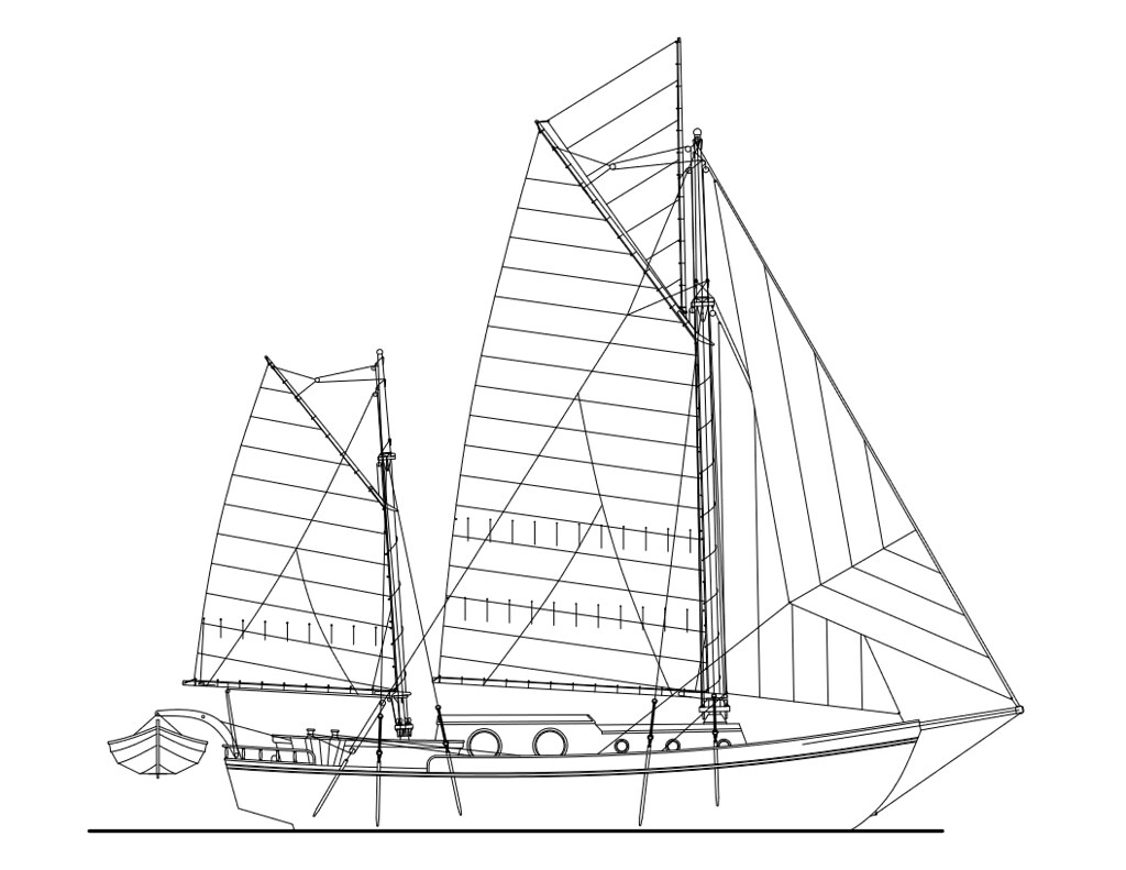 zuri converting over to a gaff rigged ketch archive the Houseboat Scow zuri converting over to a gaff rigged ketch archive the woodenboat forum