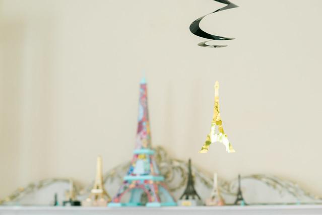Eiffel Tower birthday decorations.