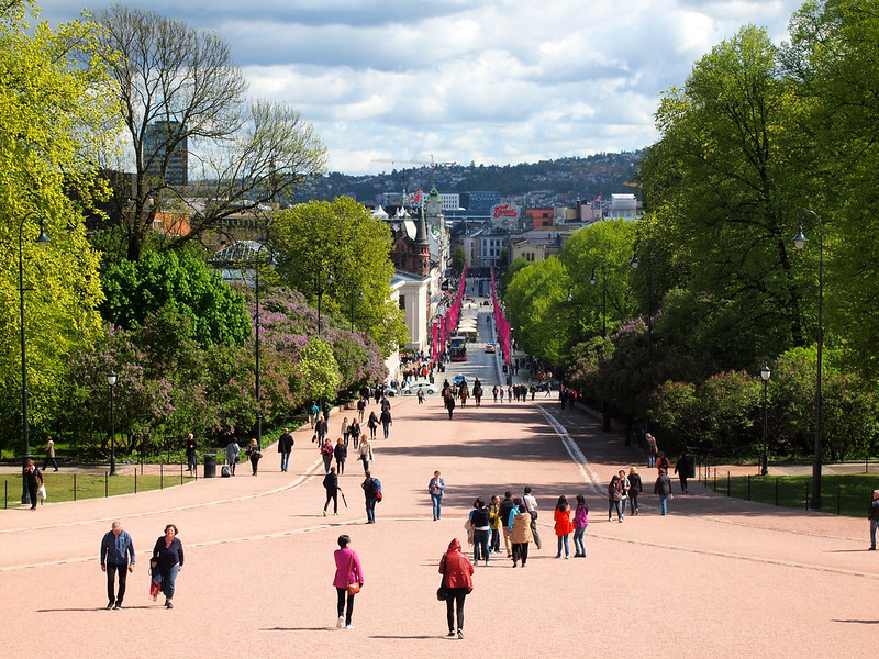 Karl Johans Gate in Oslo, Norway