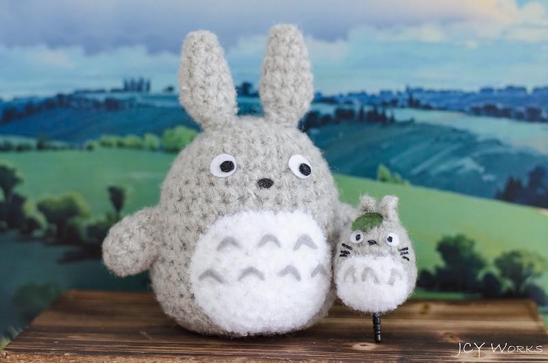 Cute My Neighbor Totoro Amigurumi Crochet Yarn Smart Phone Earphone Plug 02